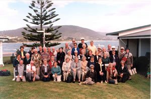 Members of the Fletcher Challenge Friendship Club tour party during the Tasmanian tour, October 1999